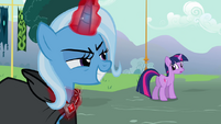 Trixie looks at Twilight