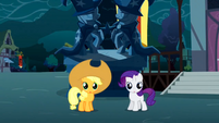 Young Applejack and Rarity