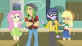 AJ and Fluttershy cheer up Micro and Sandalwood EG3.png