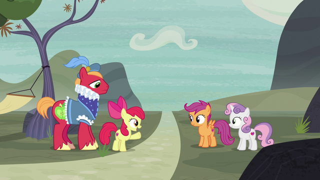 """File:Apple Bloom """"why didn't we think of it before?"""" S7E8.png"""