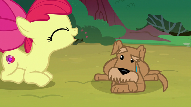 File:Apple Bloom barks like a dog at Ripley S7E6.png