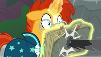 Black tendril pierces Star Swirl's journal S7E26