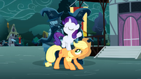 Filly Rarity on Applejack S3E5