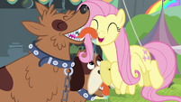 Orthros licking Fluttershy S4E22