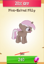 Pink-Haired Filly MLP Gameloft
