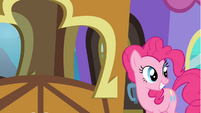 Pinkie Pie grinning after Twilight S4E22