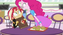 Pinkie Pie yelling at Sunset Shimmer EGS3