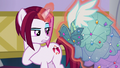 Posh Pony looking at her Princess Dress closely S5E14.png