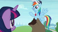 "Rainbow Dash ""what should I focus on?"" S9E15"