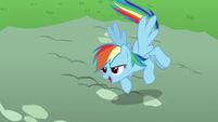 Rainbow Dash about to save Pinkie Pie S7E23