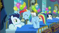 Rainbow Dash acting like Pinkie Pie S6E7