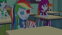 Rainbow Dash holding a bucket of popcorn EGDS22