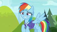 Rainbow Dash smirking confidently S8E17