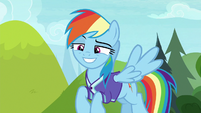 Rainbow Dash smirking confidently S8E17
