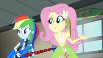 Rainbow and Fluttershy listening to Twilight's poor singing EG2