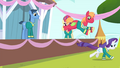 Rarity and Big Mac running S4E14.png