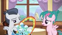 Rumble puts filly's cake in the garbage S7E21