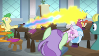 Smolder sneezes fire and flies backward S8E15