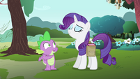"Spike ""it's so... 'Rarity'!"" S4E23"