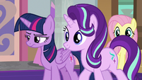 Starlight Glimmer approaches photographer S8E13