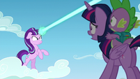 Starlight directs her magic beam to filly Rainbow Dash S5E26