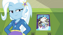 Trixie glancing back at her poster EGFF