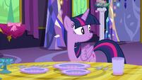 Twilight Sparkle hears Starlight return S6E6