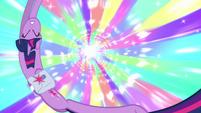 Twilight spinning through a vortex EG