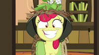 Apple Bloom grins wide with excitement S9E10