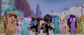 Bodyguards make a path through the crowd MLPTM.png