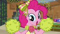 Pinkie Pie cheering at the fourth wall S7E2.png
