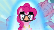 Pinkie Pie inflated mane and Groucho glasses S03E13