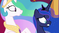 Princess Celestia and Luna in complete shock S7E25