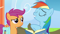 Rainbow Dash tooting her own horn S7E7