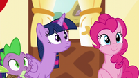 Spike, Twilight, and Pinkie hear Discord S5E22