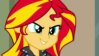 Sunset Shimmer scheming grin EG