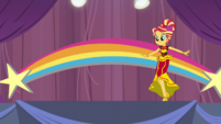 Sunset Shimmer walks onto the stage EGS1