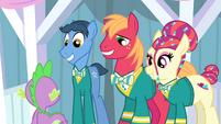 The Ponytones smiling S4E14