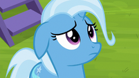 Trixie thinking very thoughtfully S8E19