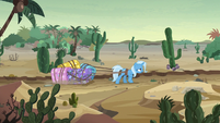 Trixie trudging through the desert S8E19