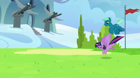 Twilight and Sky land in an academy field S6E24
