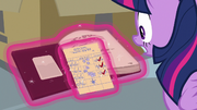 Twilight sees how overdue her book is S9E5