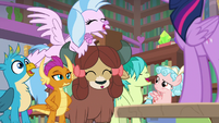 Young four agreeing with Smolder S8E22