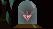 Alicorn Amulet in display case S3E5