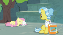 Dr. Fauna sees Angel and Fluttershy in swapped positions S9E18