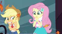 Fluttershy appears in Rarity's vlog EGDS33