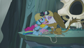 Gilda, Pinkie, and Rainbow group hug S5E8.png
