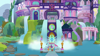Mane Six and students return to the school S8E2