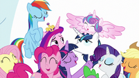 Mane Six singing all together MLPBGE