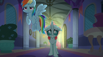 Ocellus nervously walks toward Twilight's office S8E16